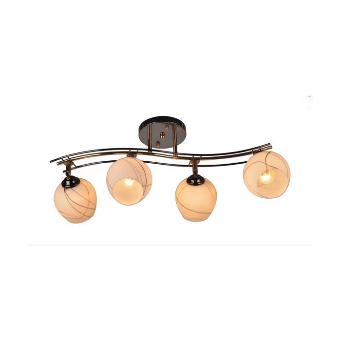 Настенно-потолочный светильник Idlamp 880/4PF-Darkgold, золотой