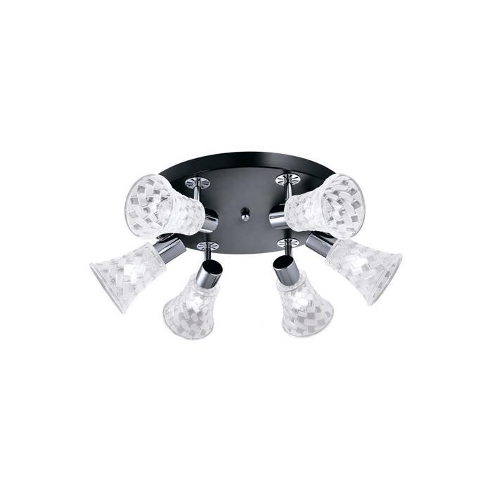 Настенно-потолочный светильник Idlamp 363/6B-Blackchrome, серый металлик спот idlamp tonia 363 3b blackchrome