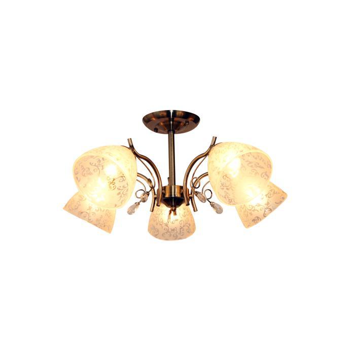 Потолочный светильник Idlamp 852/5PF-Oldbronze, бронза люстра на штанге idlamp dorotea 289 5pf oldbronze