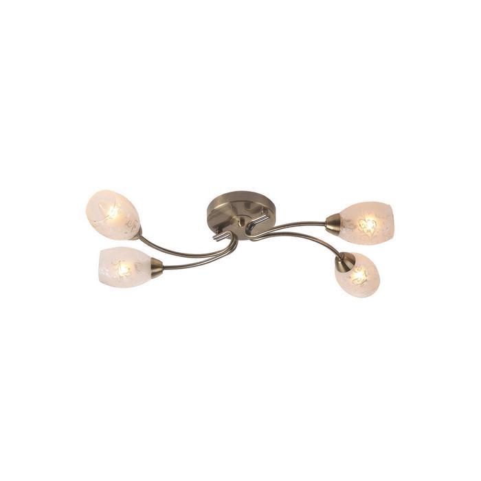 Потолочный светильник Idlamp 201/4PF-Oldbronze, бронза idlamp потолочная люстра idlamp carmina 201 4pf oldbronze