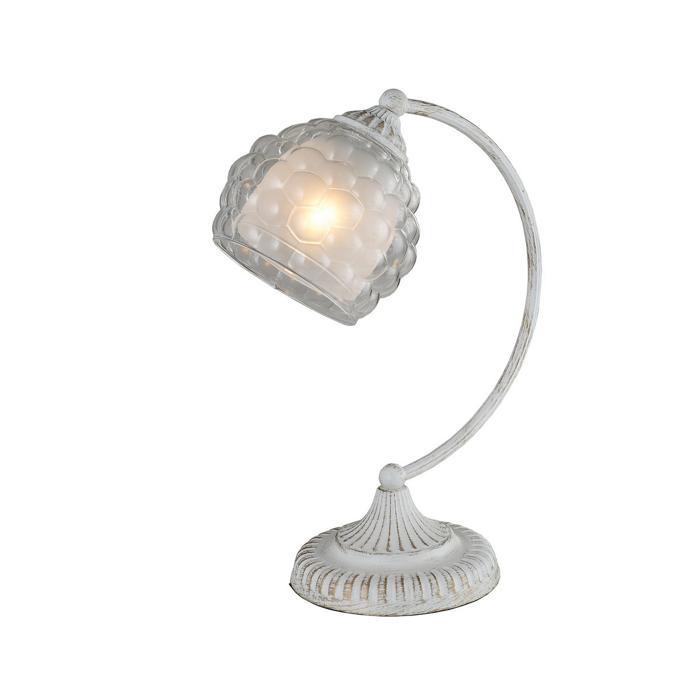 Настольный светильник Idlamp 285/1T-Whitepatina, белый настольная лампа idlamp bella 285 1t whitepatina
