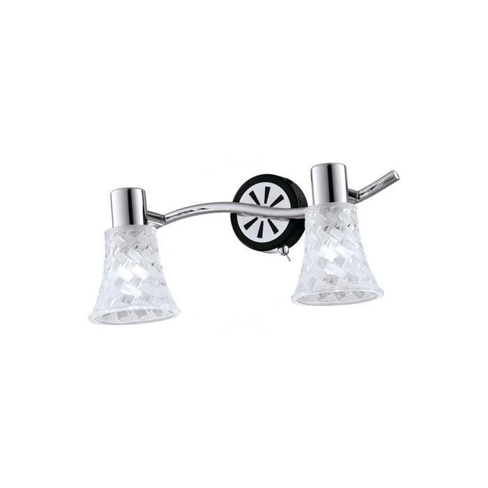 Настенно-потолочный светильник Idlamp 363/2B-Blackchrome, серый металлик спот idlamp tonia 363 3b blackchrome