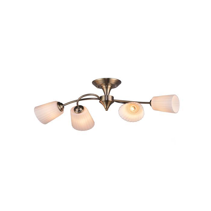 Потолочный светильник Idlamp 879/4PF-Oldbronze, бронза idlamp потолочная люстра idlamp carmina 201 4pf oldbronze