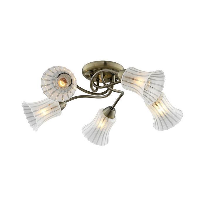 Потолочный светильник Idlamp 245/5PF-Oldbronze, бронза люстра на штанге idlamp dorotea 289 5pf oldbronze