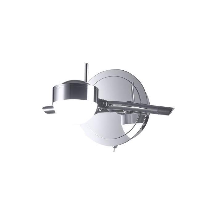 Настенно-потолочный светильник Idlamp 348/1A-Chrome, серый металлик спот pons e14x1x60w white chrome 1228 1a