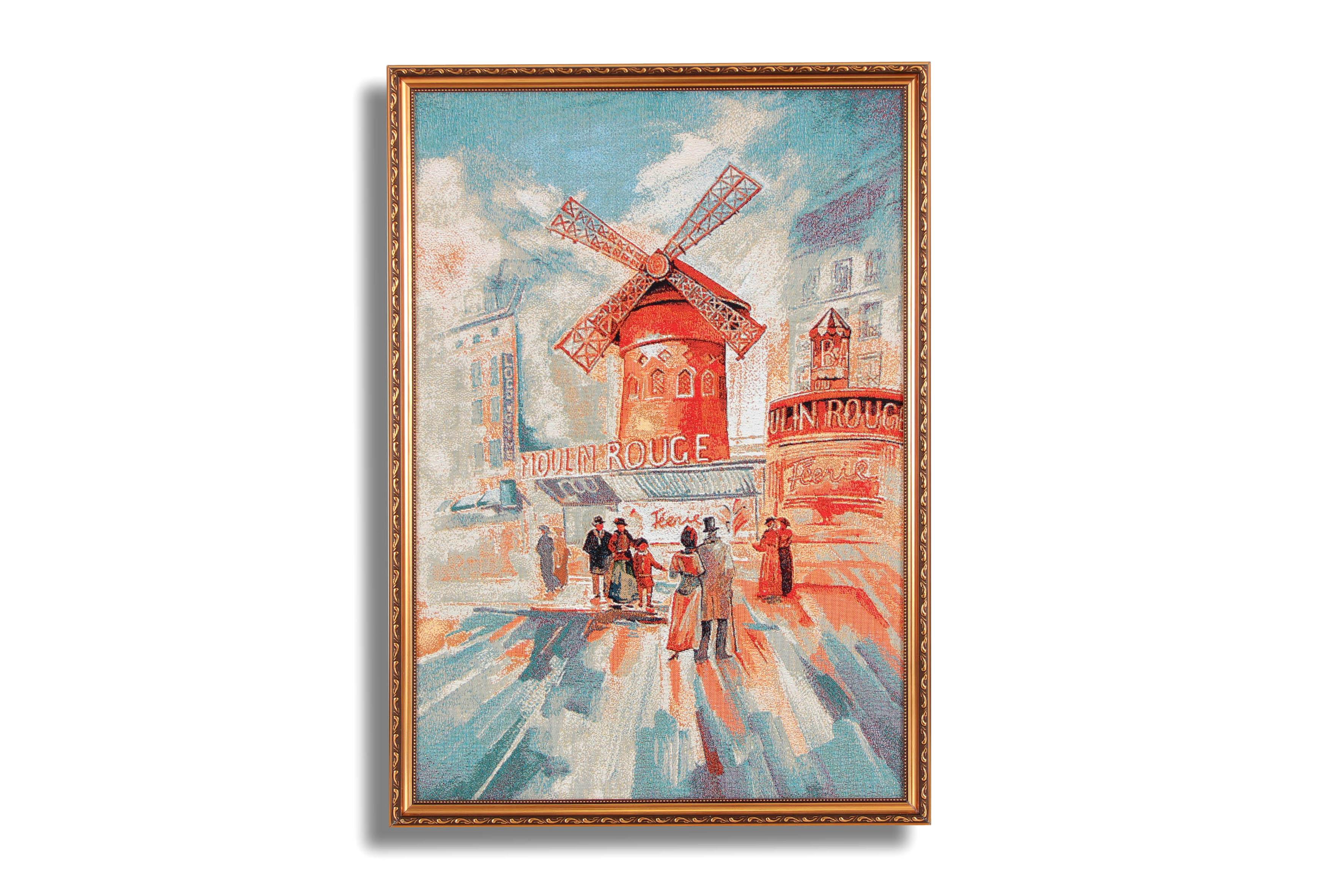 цены Картина Магазин гобеленов бульвар мулен руж 49*69 см., Гобелен