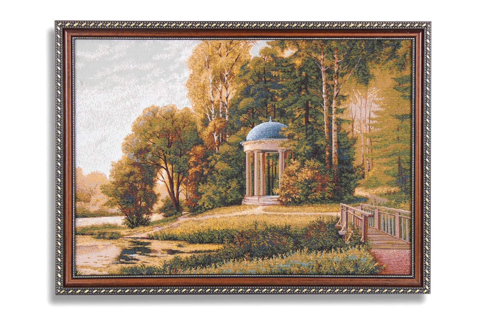 Картина Магазин гобеленов беседка осень, Гобелен беседка дачная мария