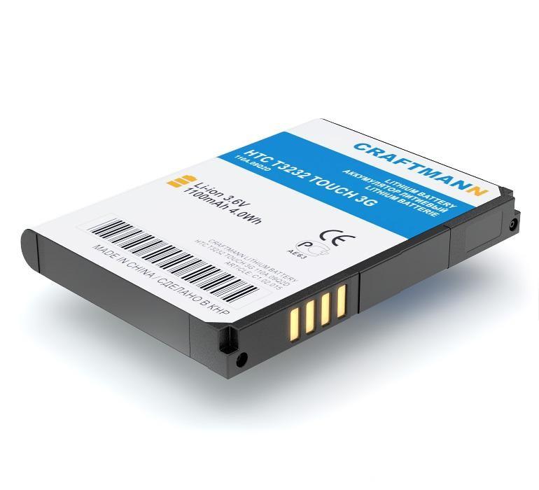 Аккумулятор для телефона Craftmann JADE160 для HTC T3232 TOUCH 3G, T4242, S700, T3238 htc t4242 cruise ii