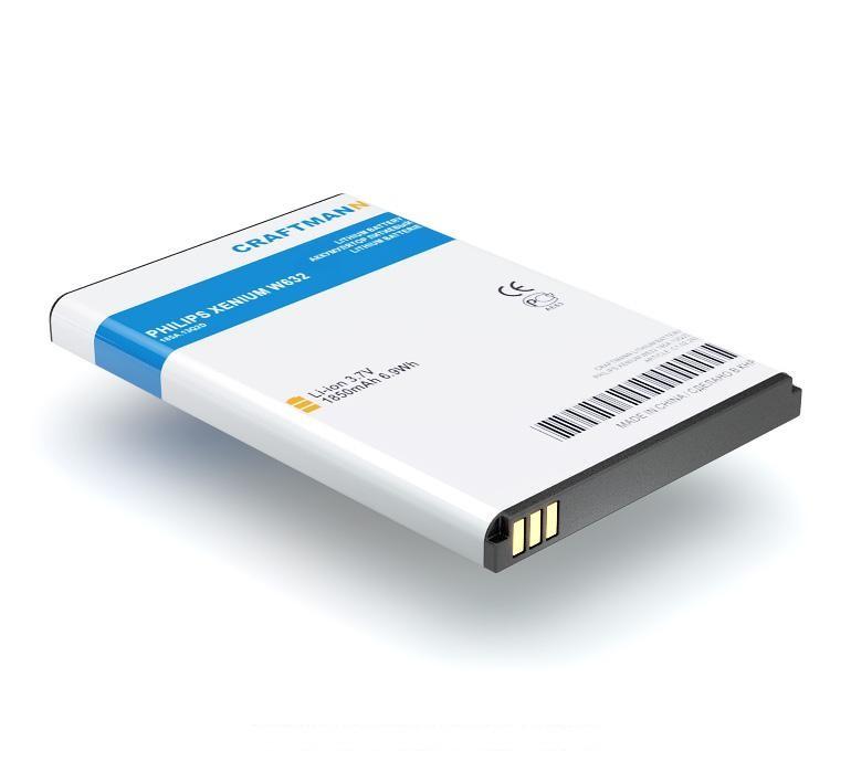 цена на Аккумулятор для телефона Craftmann AB2100AWMC для Philips Xenium W632, V726, W336, W632, , W725, W820, W8568, X622