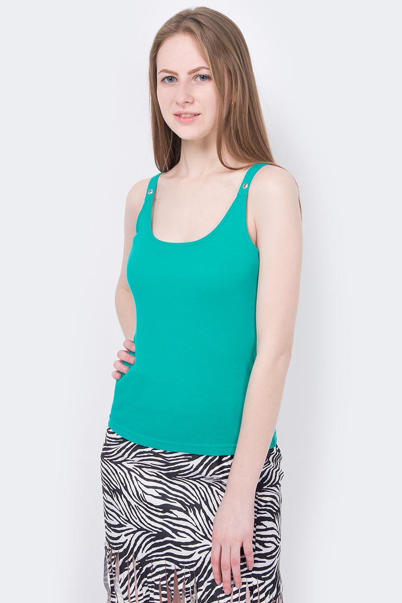 Майка oodji майка женская oodji collection цвет зеленый 24315001b 46147 6200n размер xxs 40