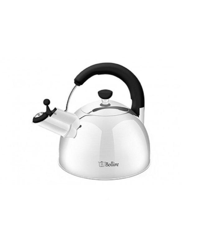 Чайник Bollire BR-3007, Нержавеющая стальBR-3007Чайник Bollire BR-3007 объёмом 2,5 литра выполнен из высококачественной нержавеющей стали AISI 201. Удобная не нагревающаяся эргономичная ручка чайника Bollire из бакелита, надежно защищает от случайного ожога. Носик чайника Bollire оснащён бакелитовым свистком со стальной сердцевиной. Индукционное дно идеально подходит для использования чайника на индукционных,газовых и электрических плитах.Рекомендуется ручная мойка.