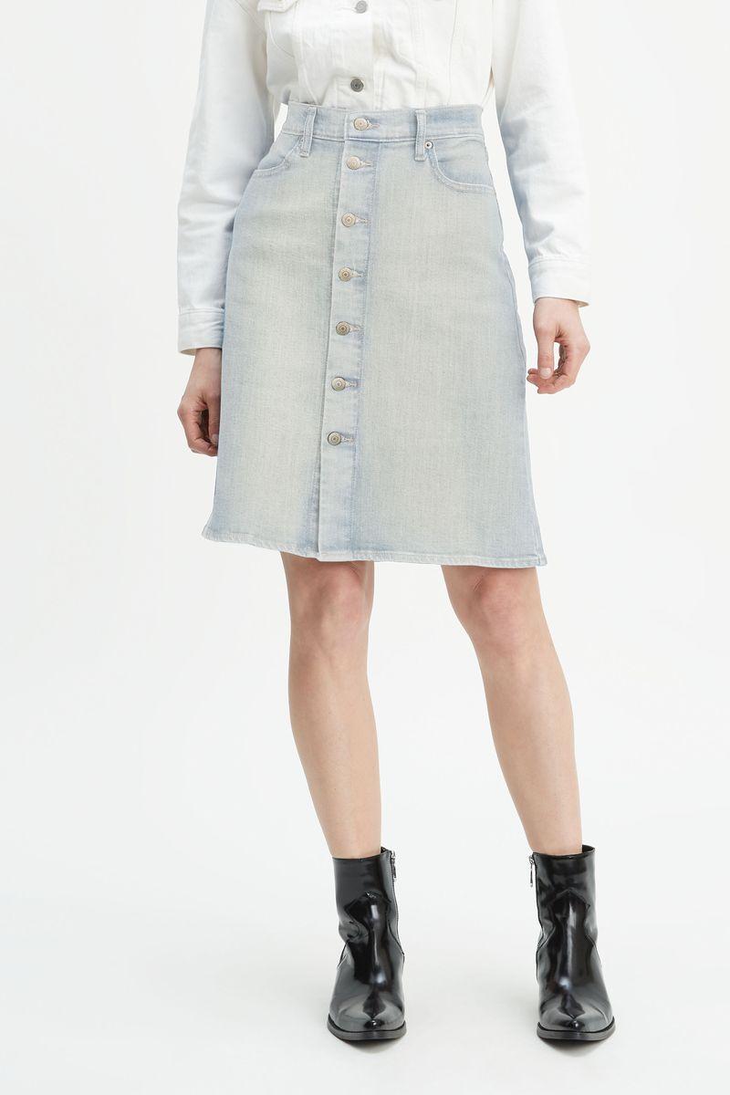 Юбка Levi's Skirts - Denim юбка из денима с нашивкой