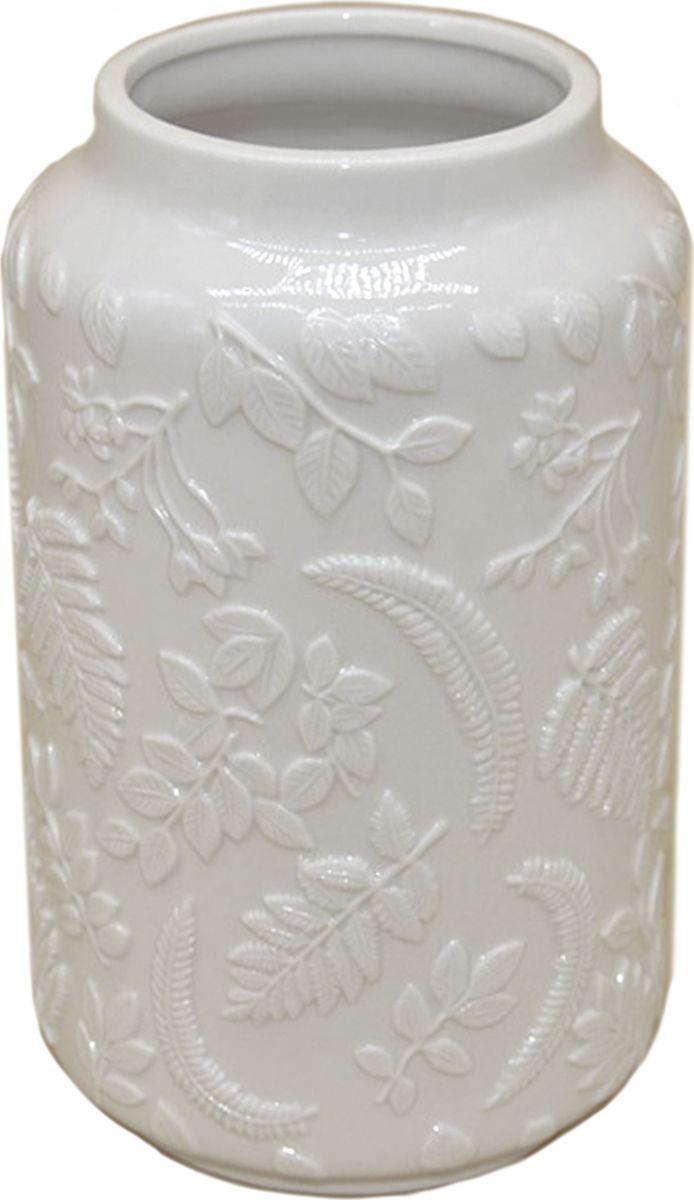 Ваза декоративная Magic Home С фигурным орнаментом, 79858, белый ваза декоративная magic home объемные цветы 79859 белый
