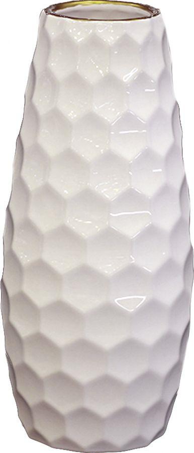 Ваза декоративная Magic Home Рельефная, 79899, белый ваза декоративная magic home объемные цветы 79859 белый
