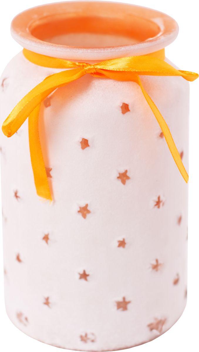 Ваза декоративная Magic Home Персиковая, 79204, оранжевый ваза декоративная magic home объемные цветы 79859 белый