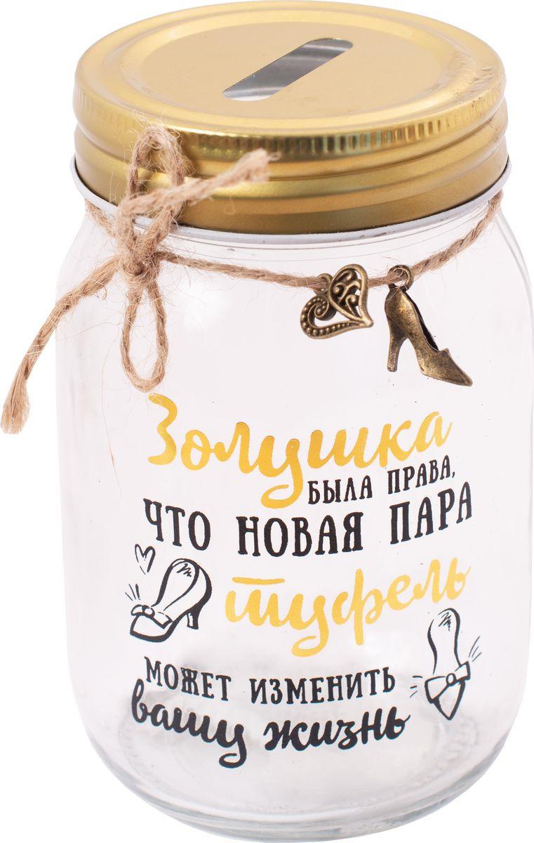 Копилка сувенирная Magic Home Туфельки для Золушки, 79203, 7,8 х 7,8 х 12,8 см