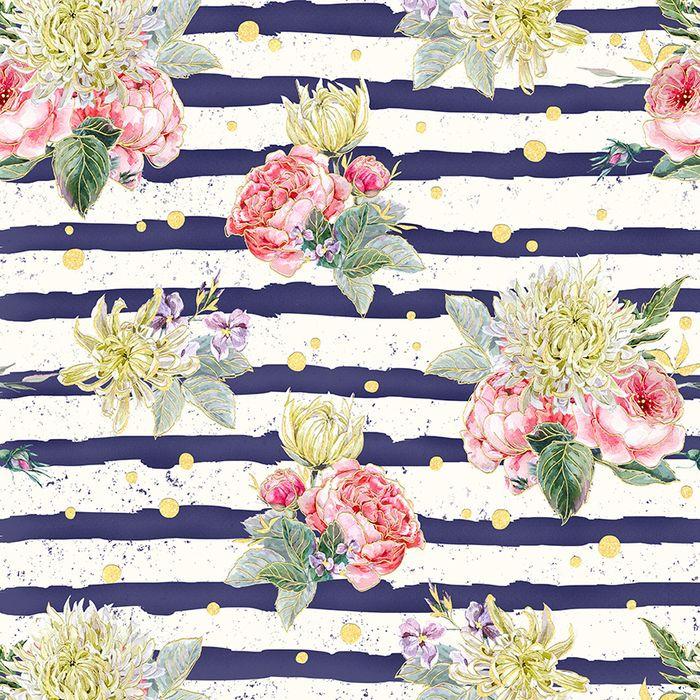 Упаковочная бумага Magic Home Морские цветы, 79732, мультиколор, 100 х 70 см
