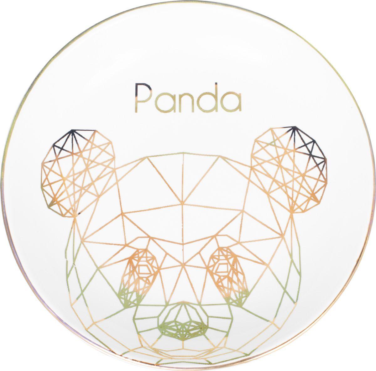 Декоративная тарелка Magic Home Панда, белый