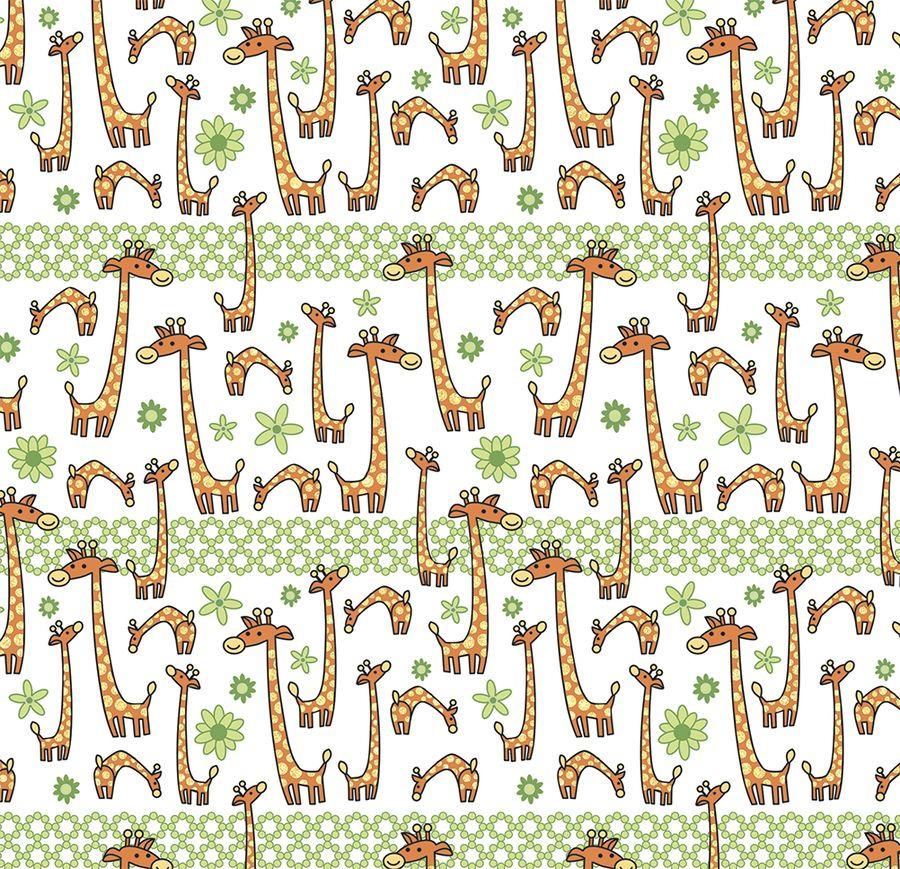 Упаковочная бумага Magic Home Жираф на поле, 79463, мультиколор, 100 х 70 см