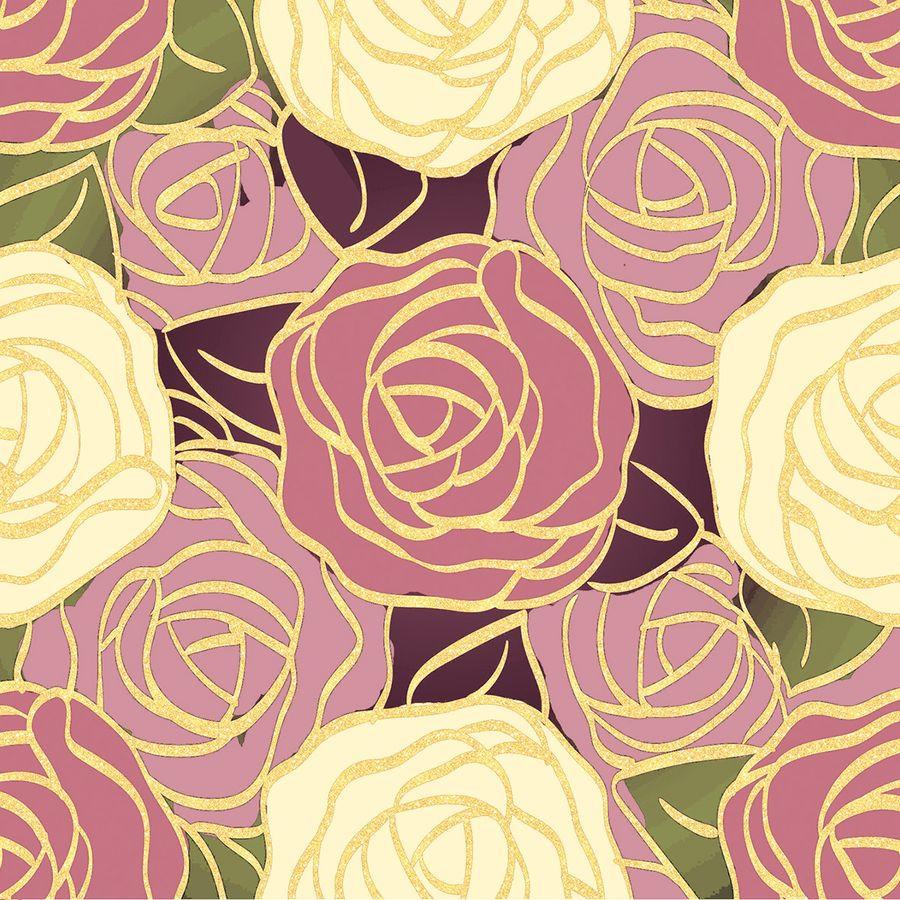 Упаковочная бумага Magic Home Розы, 79718, мультиколор, 100 х 70 см