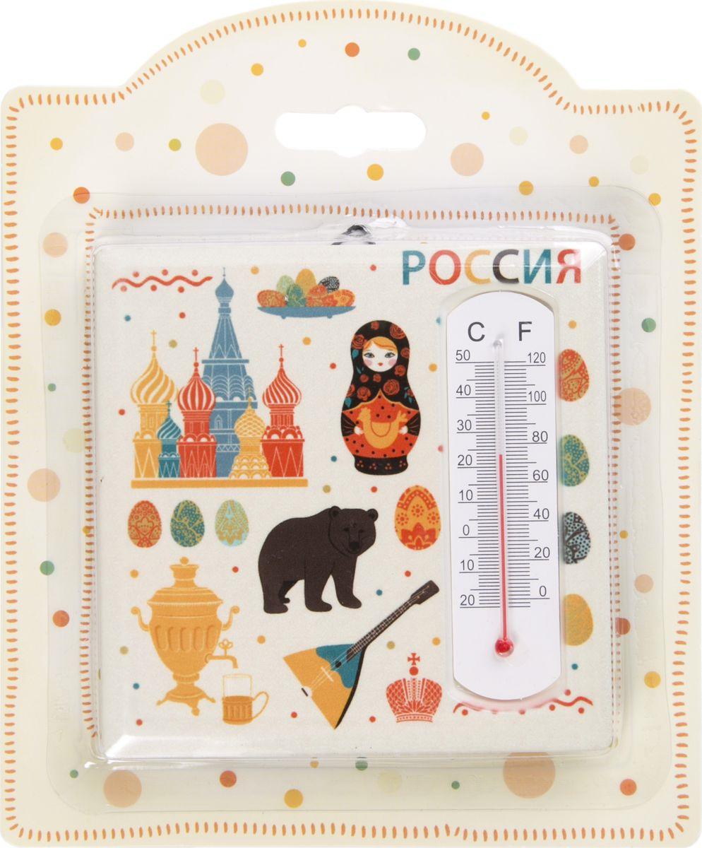 Термометр декоративный Magic Home Русские мотивы, 77230, белый термометр д бани жидкостный 200х42х18мм