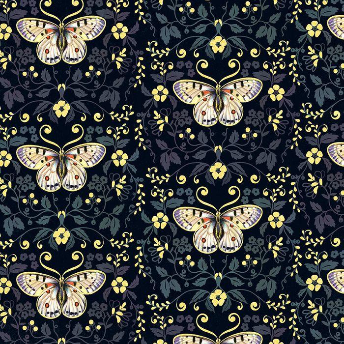 Упаковочная бумага Magic Home Бабочки, 79727, черный, 100 х 70 см
