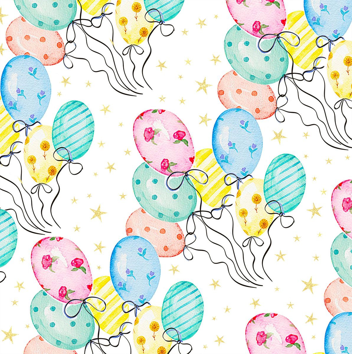 Упаковочная бумага Magic Home Веселые шары, 79429, мультиколор, 100 х 70 см