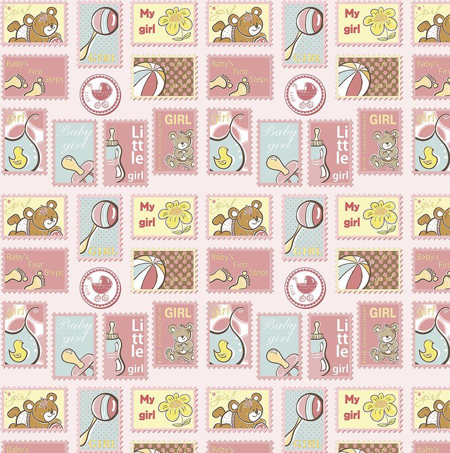 Упаковочная бумага Magic Home Нежно розовый подарок, 79453, мультиколор, 100 х 70 см