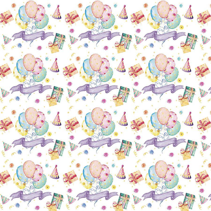Упаковочная бумага Magic Home Веселый приздник №3, 79460, мультиколор, 100 х 70 см
