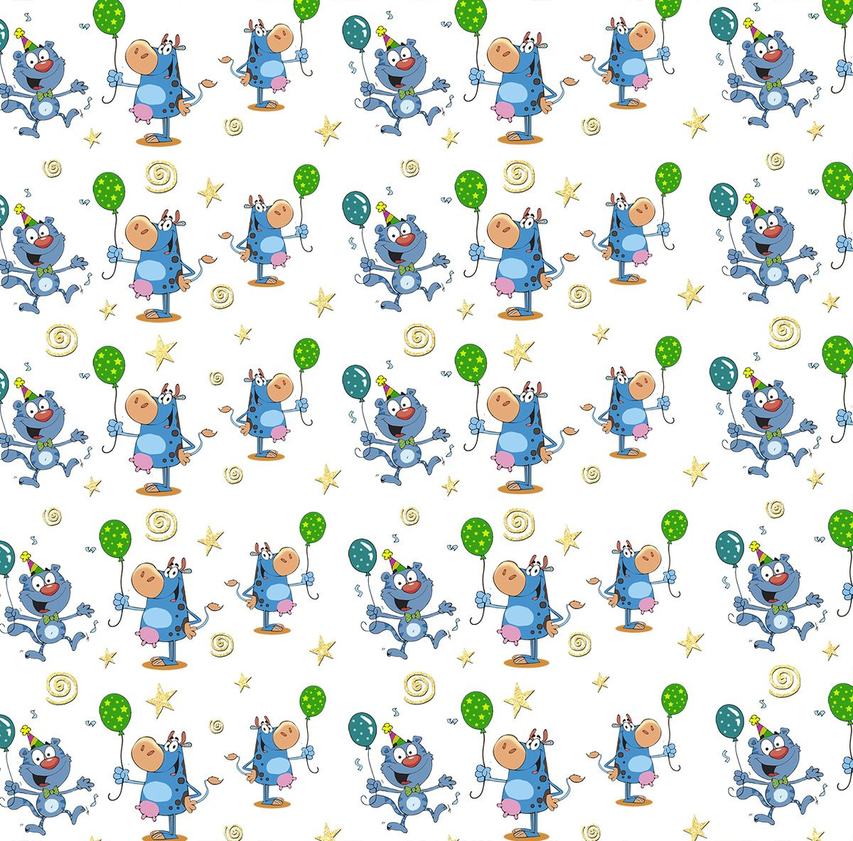 Упаковочная бумага Magic Home Кот и бегемот, 79440, мультиколор, 100 х 70 см