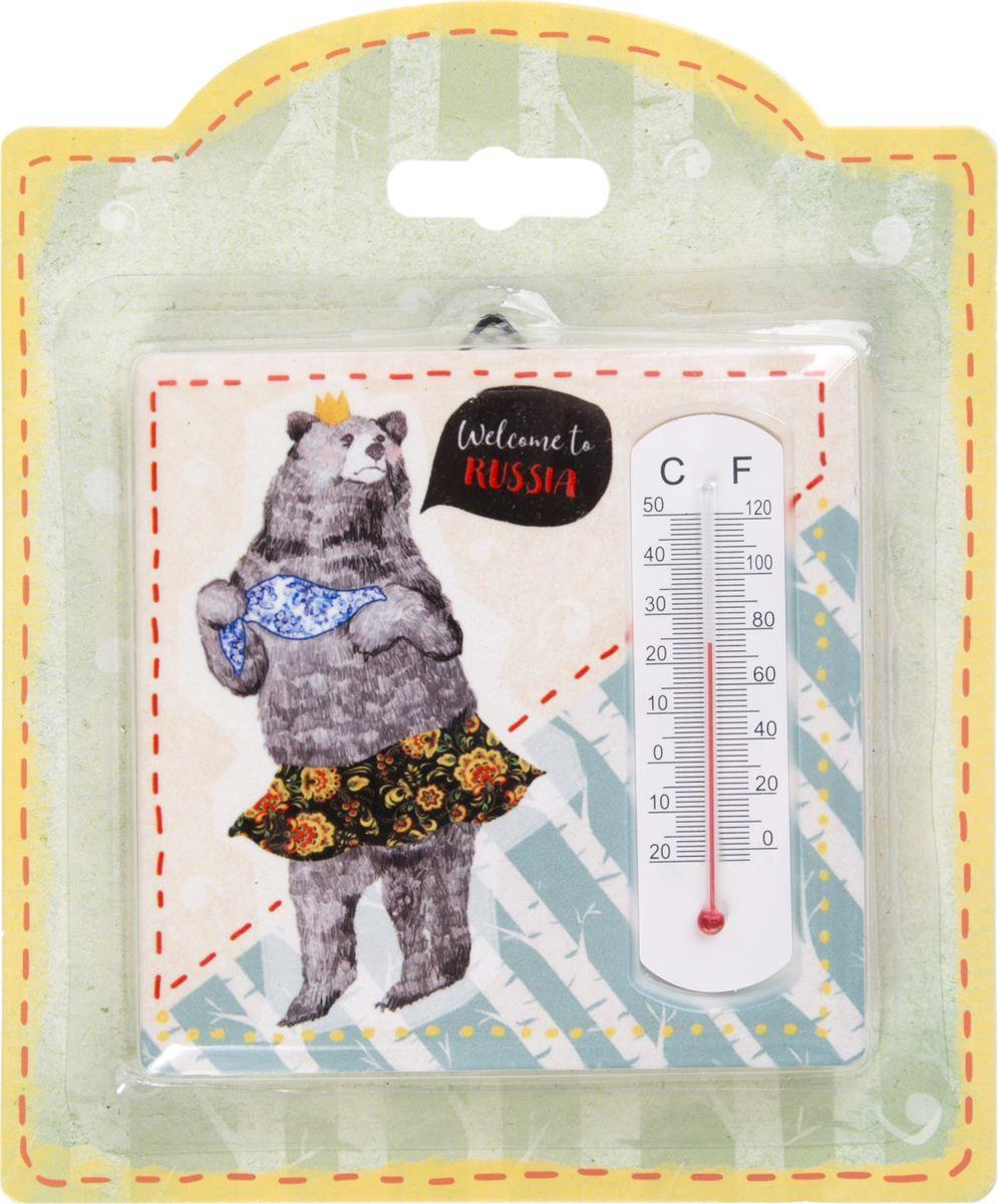 Термометр декоративный Magic Home Медведица, 77233, зеленый термометр д бани жидкостный 200х42х18мм