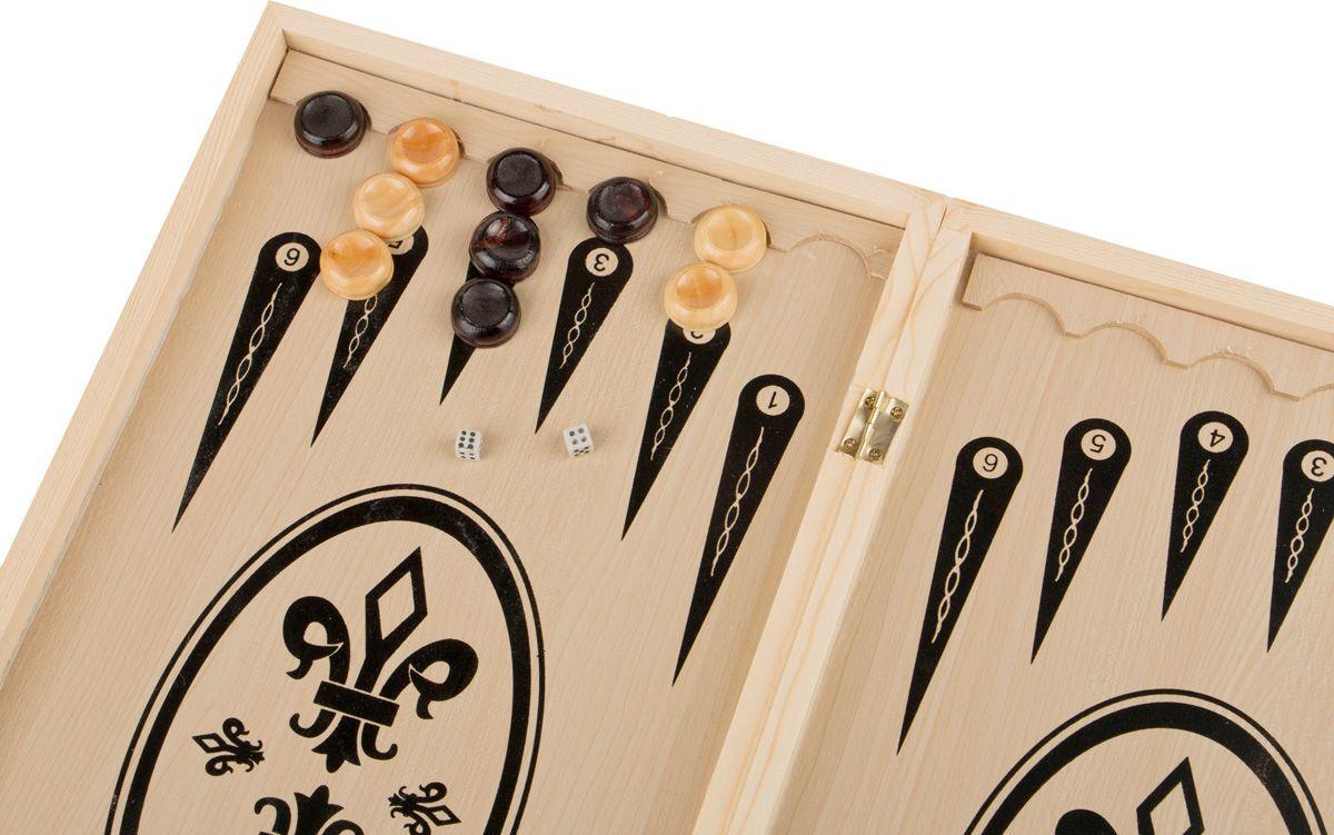 Настольная игра Lefard Шахматы + Шашки + Нарды, 446-203 настольная игра 1toy набор игр шашки шахматы нарды карты на магнитах т52451