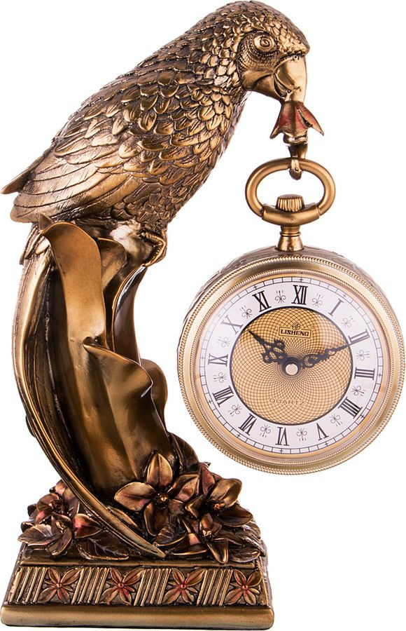 Настольные часы Lefard Бронзовый попугай, кварцевые, 204-176, 40 х 13,5 х 26 см
