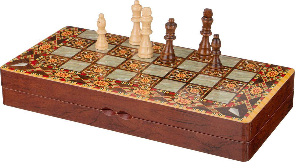 Настольная игра Lefard Шахматы + Шашки + Нарды, 446-115 настольная игра 1toy набор игр шашки шахматы нарды карты на магнитах т52451