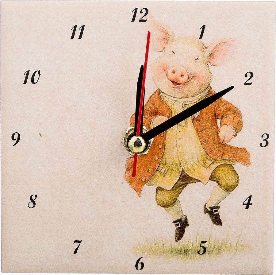 Настольные часы Lefard Свинки Радость