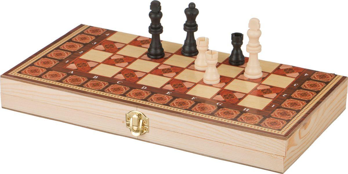 Настольная игра Lefard Шахматы + Шашки + Нарды, 446-201 настольная игра 1toy набор игр шашки шахматы нарды карты на магнитах т52451