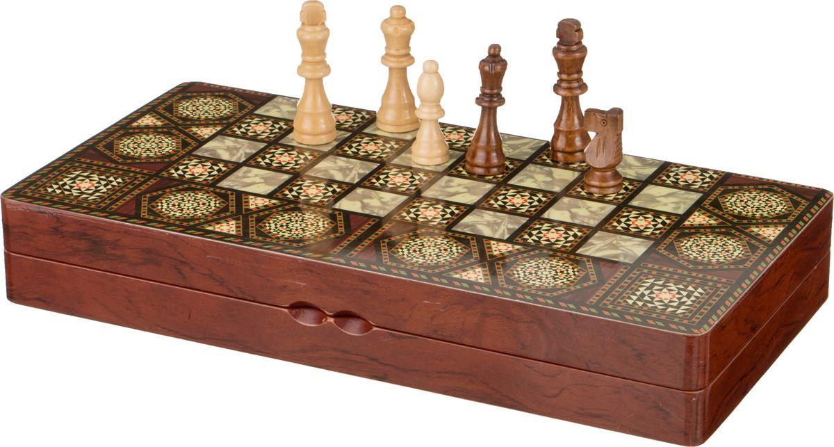 Настольная игра Lefard Шахматы + Шашки + Нарды, 446-116 настольная игра 1toy набор игр шашки шахматы нарды карты на магнитах т52451