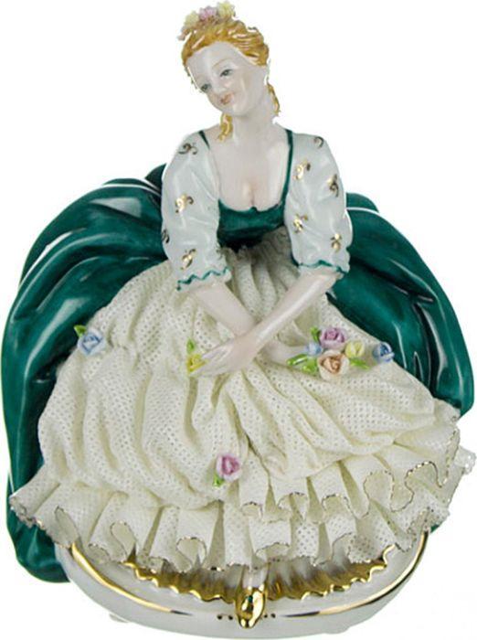 Статуэтка Lefard Фарфоровые кружева Дама, 101-155, 17 х 12 х 10 см