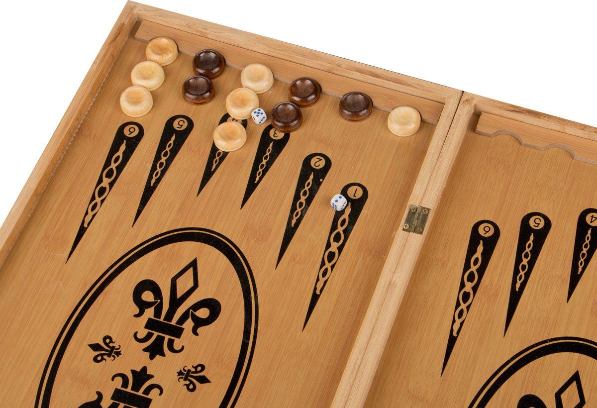 Настольная игра Lefard Шахматы + Шашки + Нарды, 446-204 настольная игра 1toy набор игр шашки шахматы нарды карты на магнитах т52451