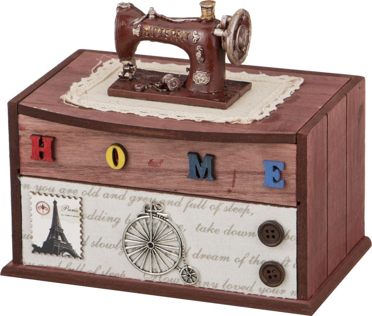 Фото - Шкатулка для рукоделия Lefard, 222-085, 18 х 16 х 12,5 см шкатулка с фоторамкой lefard happy kid 222 711