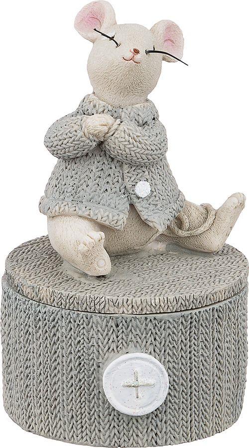 Шкатулка Lefard Мышка, 162-574, 7 х 7 х 12 см