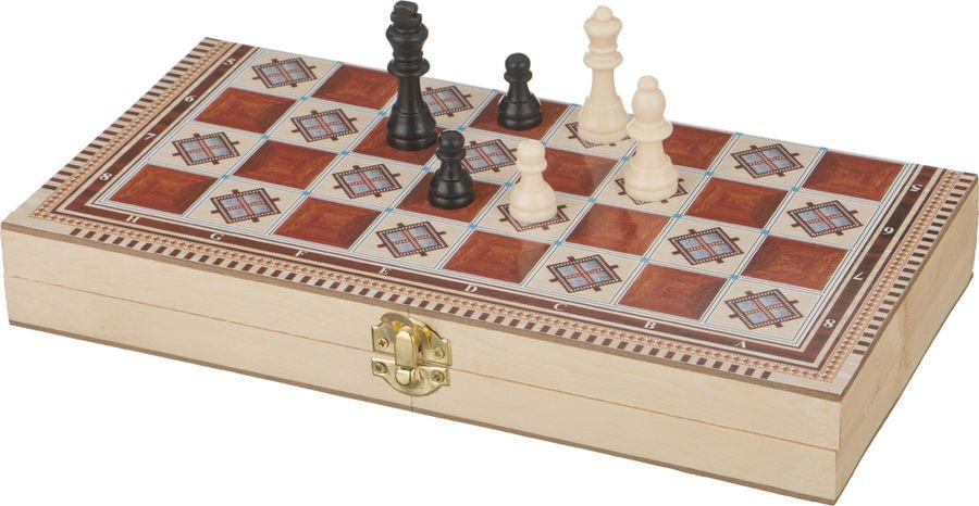 Настольная игра Lefard Шахматы + Шашки + Нарды, 446-200 игра spin master 3 в 1 шашки шахматы нарды 6038107