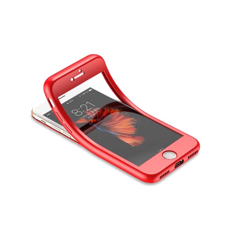 Чехол для сотового телефона No Name Силиконовый чехол для iPhone X / 7 / 8 Plus / 6S / 6 / 5 / 5S SE, красный чехол для сотового телефона no name силиконовый чехол для iphone x 7 8 plus 6s 6 5 5s se розовый