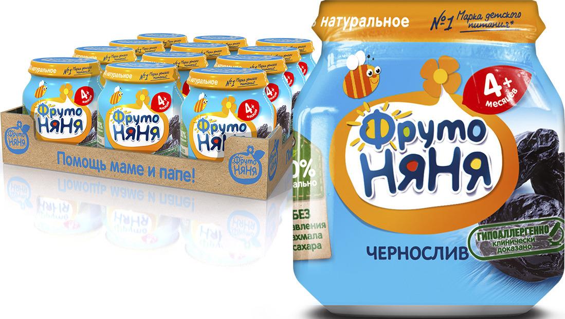 ФрутоНяня Чернослив пюре с 4 месяцев, 12 шт по 100 г фрутоняня пюре из груш с 4 месяцев 12 шт по 100 г
