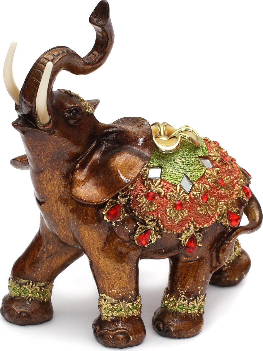 Статуэтка Miland Слон благополучия, большой, Т-4959, мультиколор, 20 х 20 х 8 см