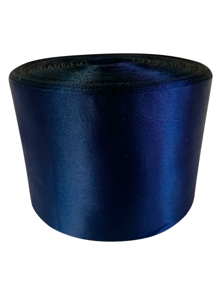 Лента Свадьба атласная, тёмно-синяя, ширина 10см, длина 98м лента свадьба атласная сиреневая ширина 10см длина 98м