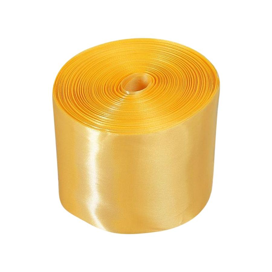 Лента Свадьба атласная, светлое золото, ширина 10см, длина 98м лента свадьба атласная ярко голубая ширина 10см длина 98м