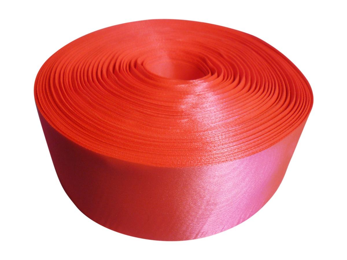 Лента Свадьба атласная, ярко-оранжевая, ширина 5см, длина 98м14291Атласная лента широко применяется в декорировании интерьера и украшении одежды, создании аксессуаров и игрушек, скрапбукинге и вышивании. Она изготовлена из полиэстера, обладает высокой прочностью и устойчива к тепловому воздействию. Изделие гладкое и приятное на ощупь, не пушится и отливает лёгким блеском.