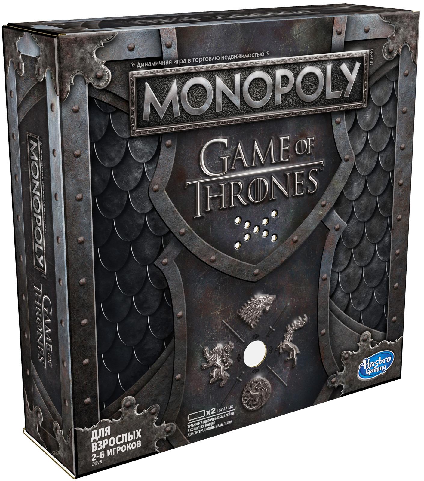 Настольная игра Monopoly Игра престолов, E3278121 игра настольная hasbro монополия игра престолов e3278