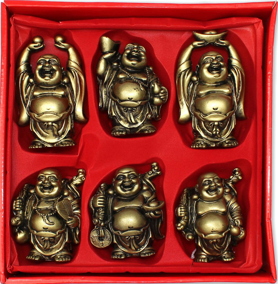 Набор статуэток Miland Хотеи исполняющие желания, Т-5008, мультиколор, 7 х 9 х 7 см, 6 шт binful 6 7 9 9 7 soft tablet case cover for ipad mini 2 3 4 air 1 universal liner sleeve tablets zipper pouch bag